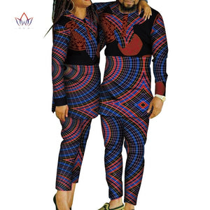 African Print Patchwork Top and Pants