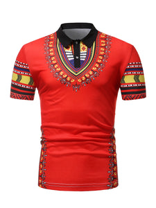 African clothes  for men polo men wear t-shirt