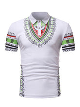 Load image into Gallery viewer, African clothes  for men polo men wear t-shirt