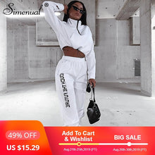 Load image into Gallery viewer, Letter Print Casual Workout Two Piece Set Women Fashion