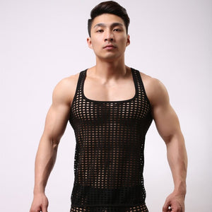 Men New Fashion Hollowed-Out Vest