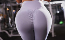 Load image into Gallery viewer, Ladies fashion new solid color pants high waist stretch leggings breathable sweat-absorbent pants jogging pants fitness pants