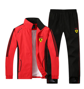 Men Jogging Track Track Suit Sport Jacket Coat Top Suit Set