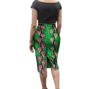 Traditional African Print Skirt for Women