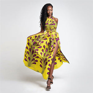 2019 Summer African Maxi Dresses Infinite Bandage Sexy Party Dress