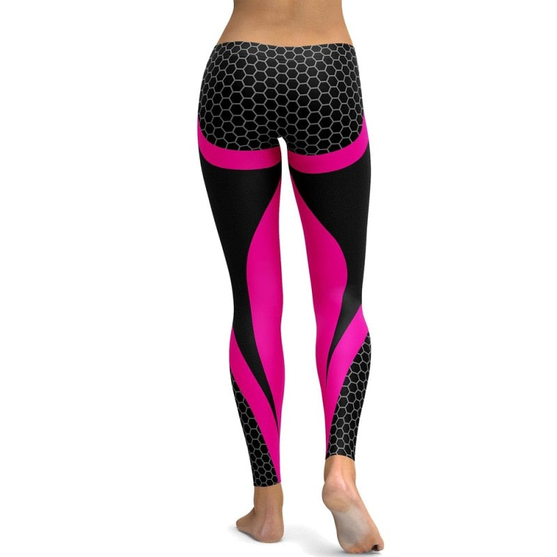 Mesh Pattern Print Leggings fitness