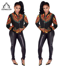 Load image into Gallery viewer, Women African Clothes Plus Size Dashiki Long Sleeve Coat