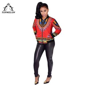 Women African Clothes Plus Size Dashiki Long Sleeve Coat