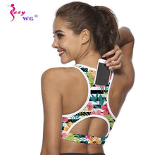 Load image into Gallery viewer, SEXYWG Top Women Sports Bra with Phone Pocket Compression Push Up Underwear Top Female Gym Fitness Running Yoga Bh Sport Bra XL