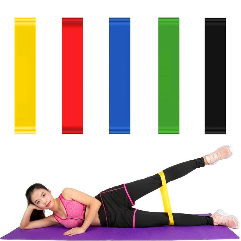 Yoga Fitness Resistance Rubber Bands Pilates Workout Band Gym Equipment