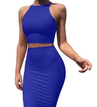 Load image into Gallery viewer, Crop Top and Skirt Two Pieces Dress