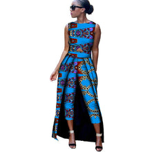 Load image into Gallery viewer, African Clothes for Women 2019 Sleeveless Top and Mid Calf  Trousers 2 Pieces Sets