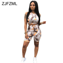 Load image into Gallery viewer, Colorful Tie Dye 2 Piece Matching Sets Summer Clothes For Women