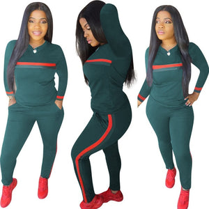 Stripe Tracksuits 2 Set Piece Set