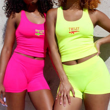 Load image into Gallery viewer, 2 Piece Set Women Casual Neon Color Tracksuits