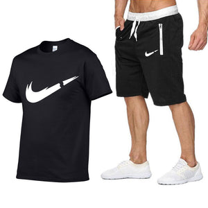 2019 New Tracksuit Mens T-Shirts 2piece