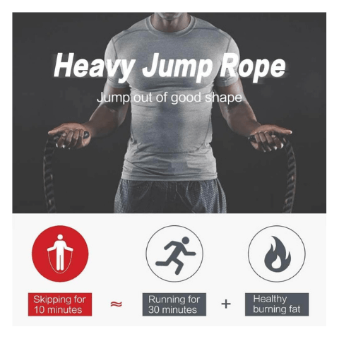 Weighted Jump Rope Crossfit Training Battle Exercise