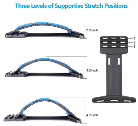 Back Stretch Massager Stretcher Lumbar Support Relaxation Spine Pain Relief