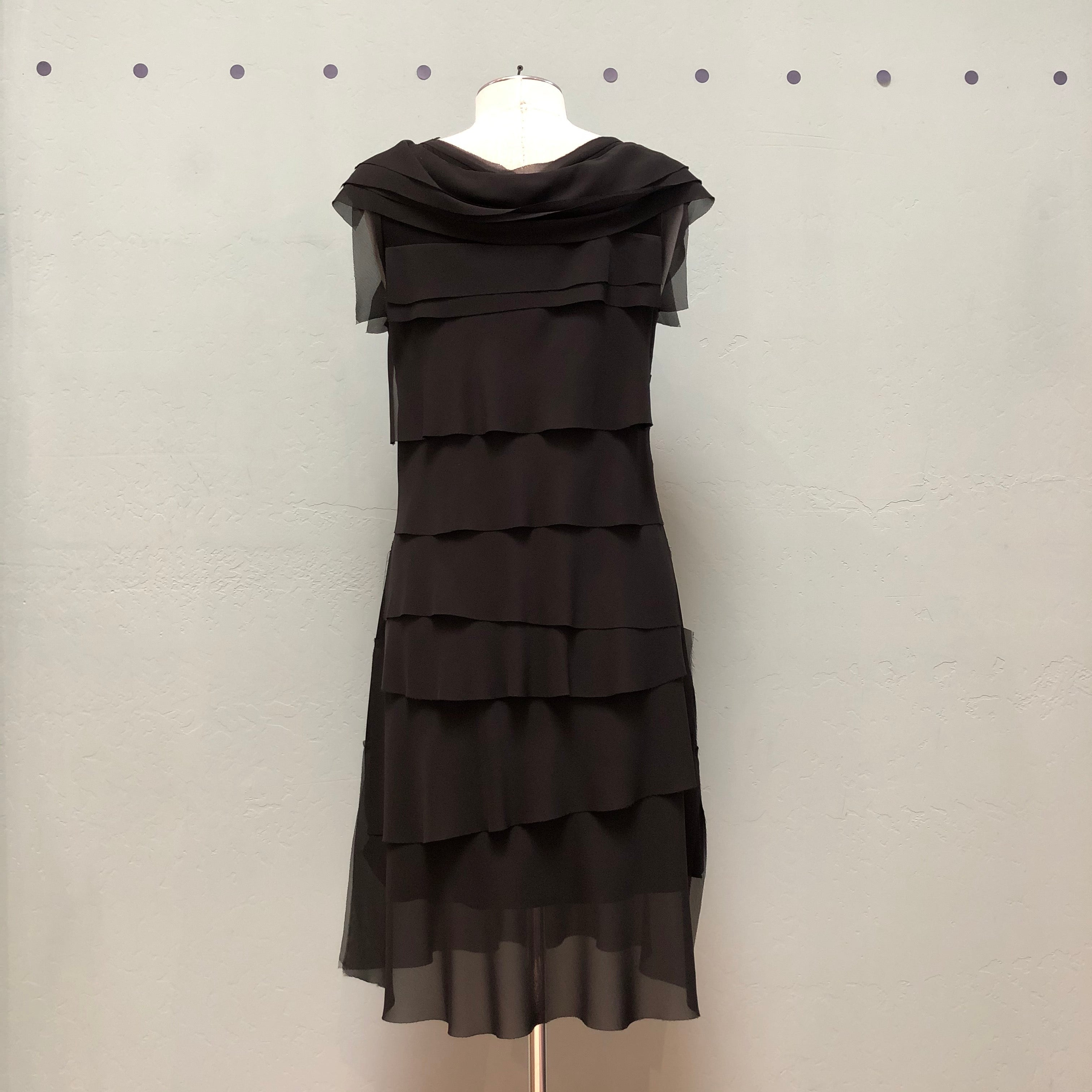 Samuel Dong Tiered Mesh Dress