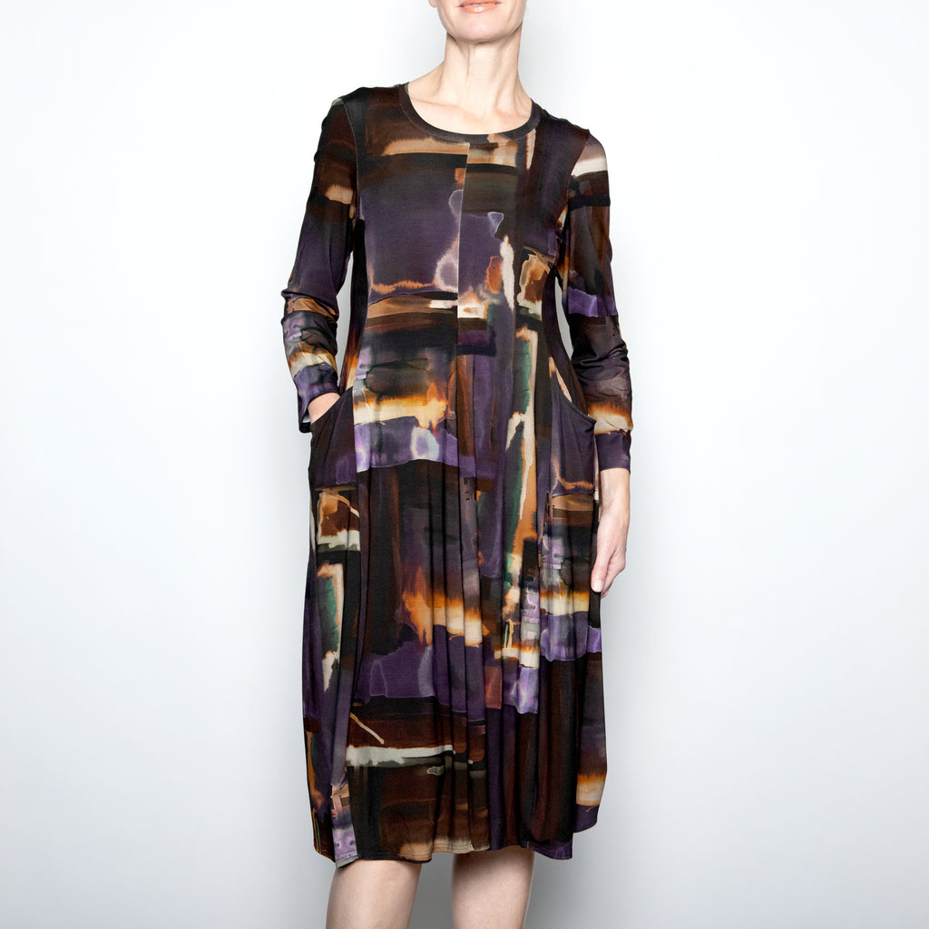 Q'Neel Sunset Draped Dress