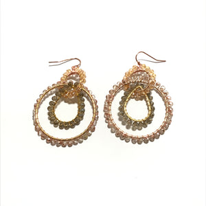 Nakamol Circle Bead Earrings in Copper