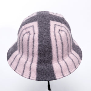 Anytra Odoremi Striped Hat in Pink/Grey