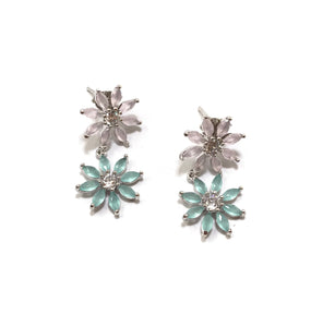 Theia Maya Two Tier Petal Drop Earrings