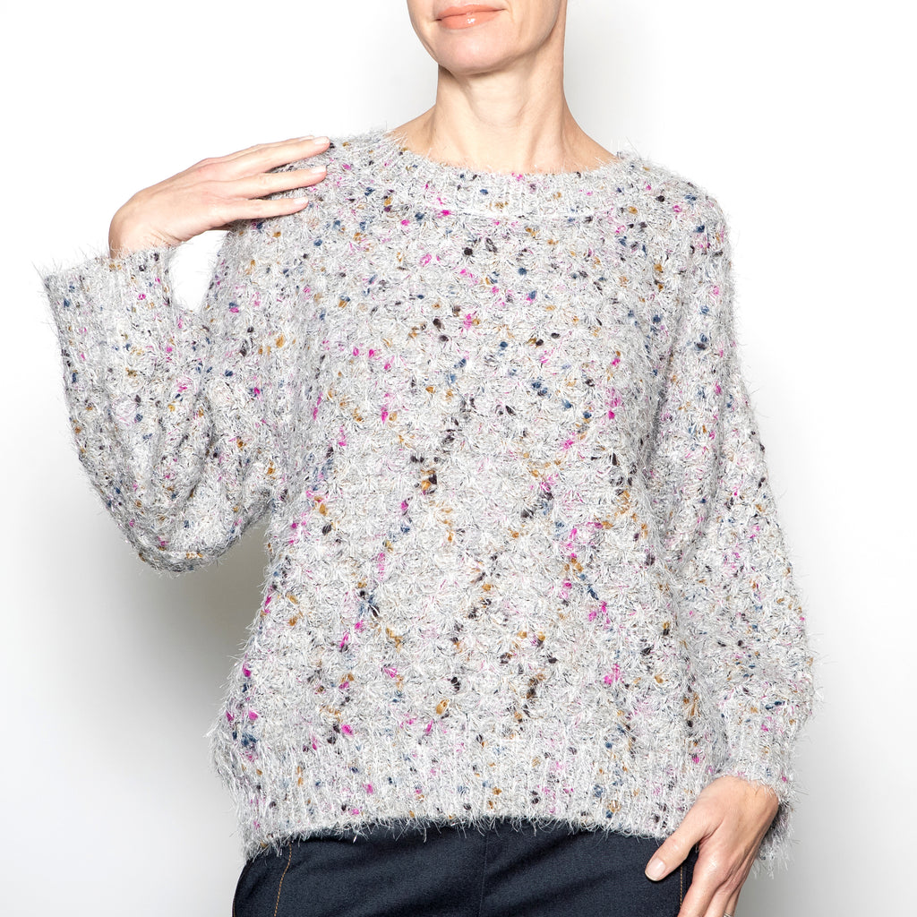 Rain and Rose Confetti Sweater