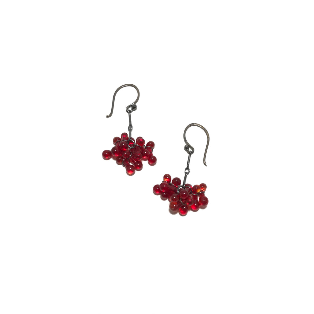 Krista Bermeo-Morgon Red Cluster Earrings