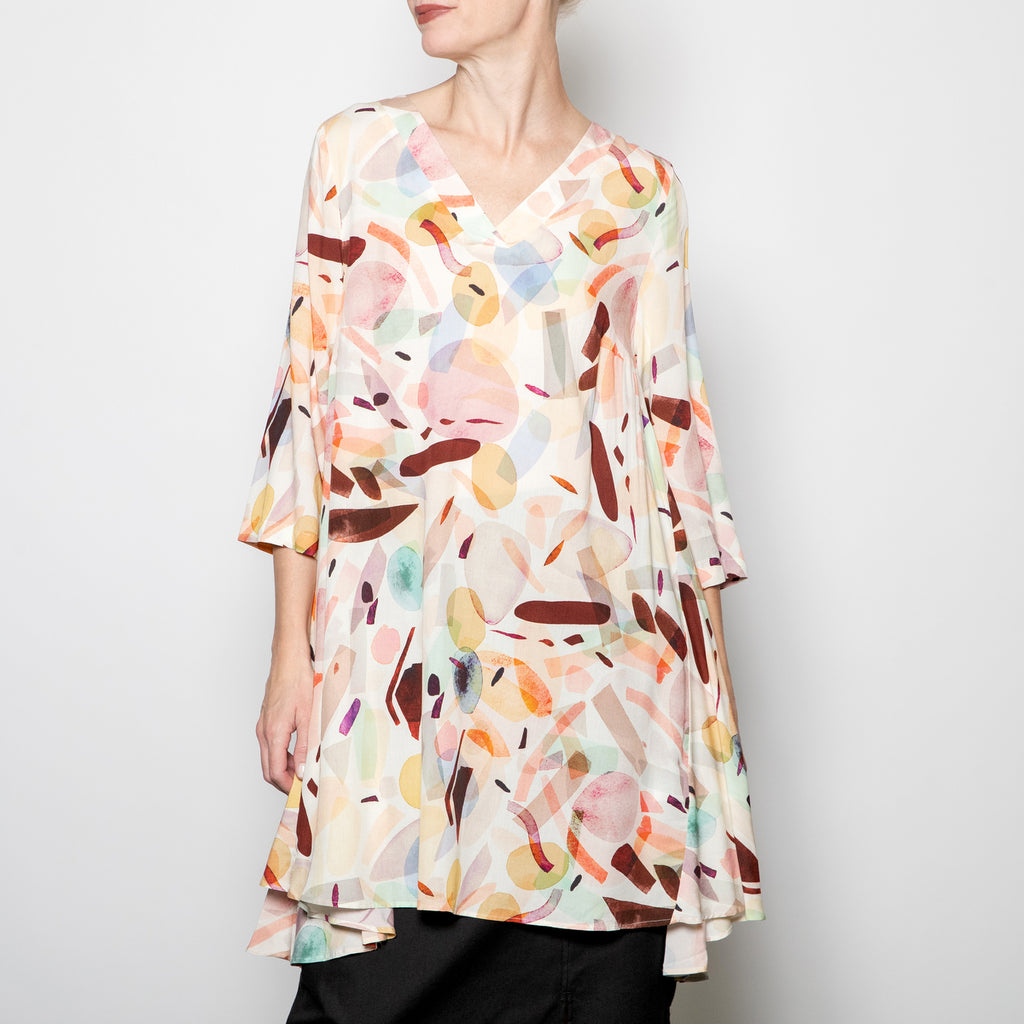 Q'neel Pastel Printed Shift Dress