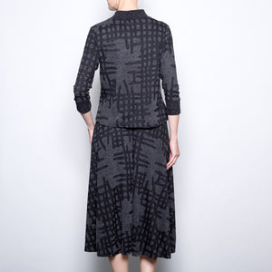Wyatt Rose 2 Piece Charcoal Plaid