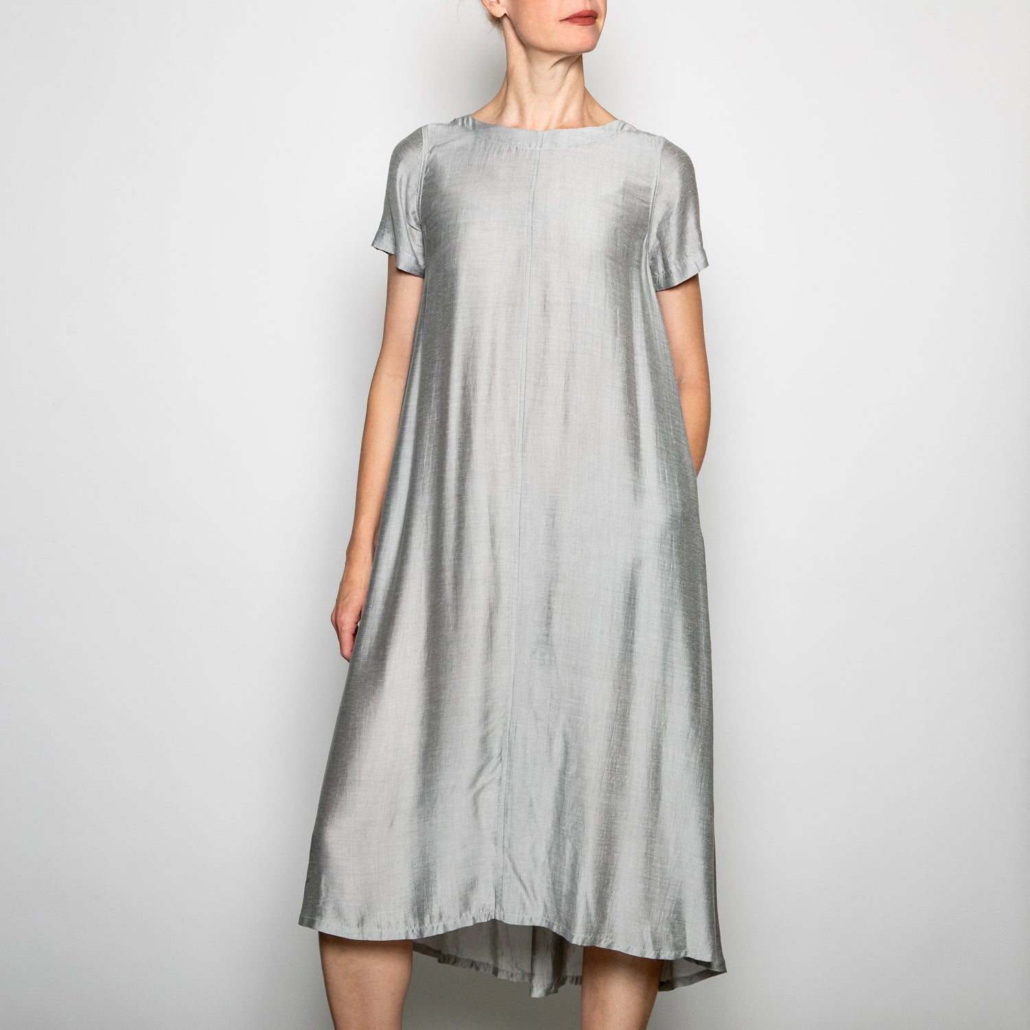 Annam Ami Short Sleeve Dress-AMI - C001-Gray-S/M