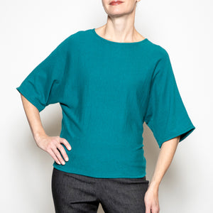 Apricot Easy Sweater in Teal
