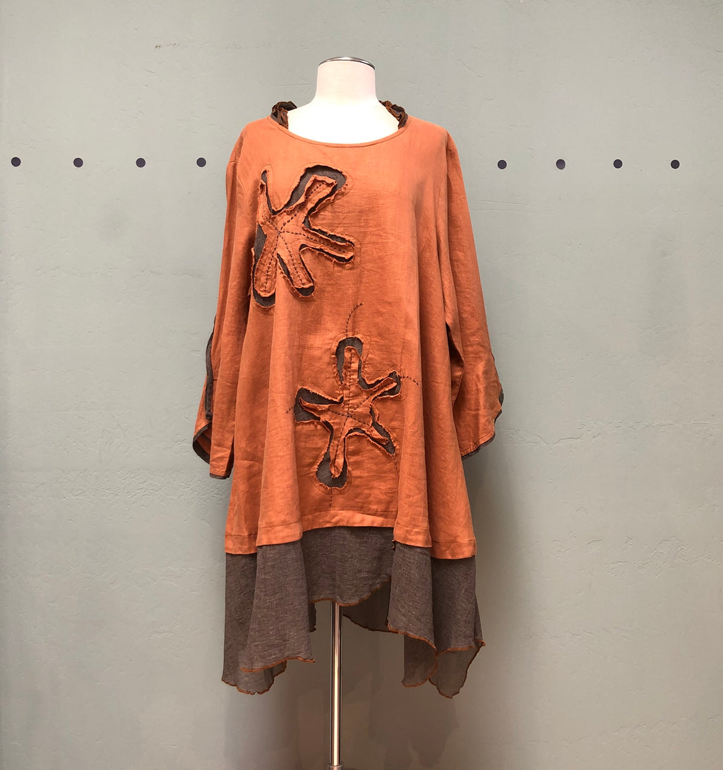 Peacock Ways Pumpkin Tunic