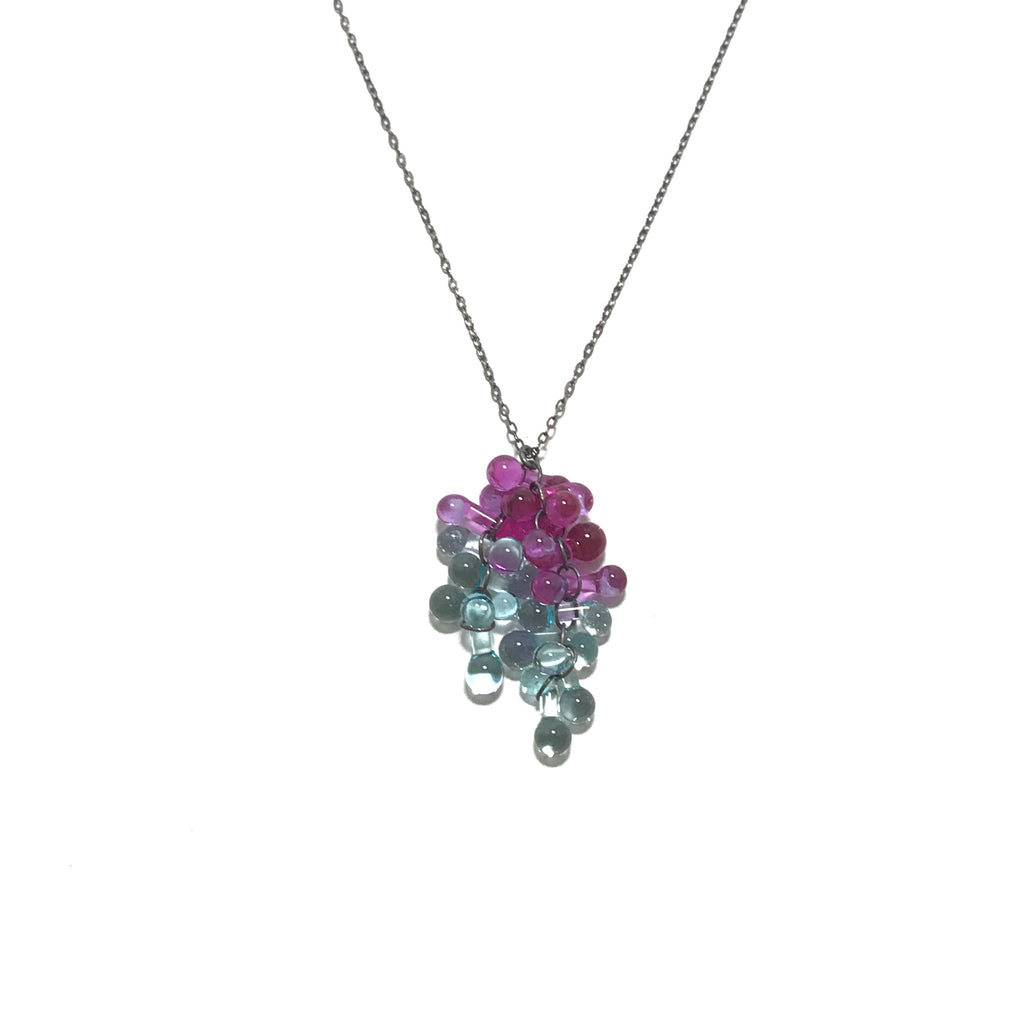 Krista Bermeo Necklace in Fuschia and Mint