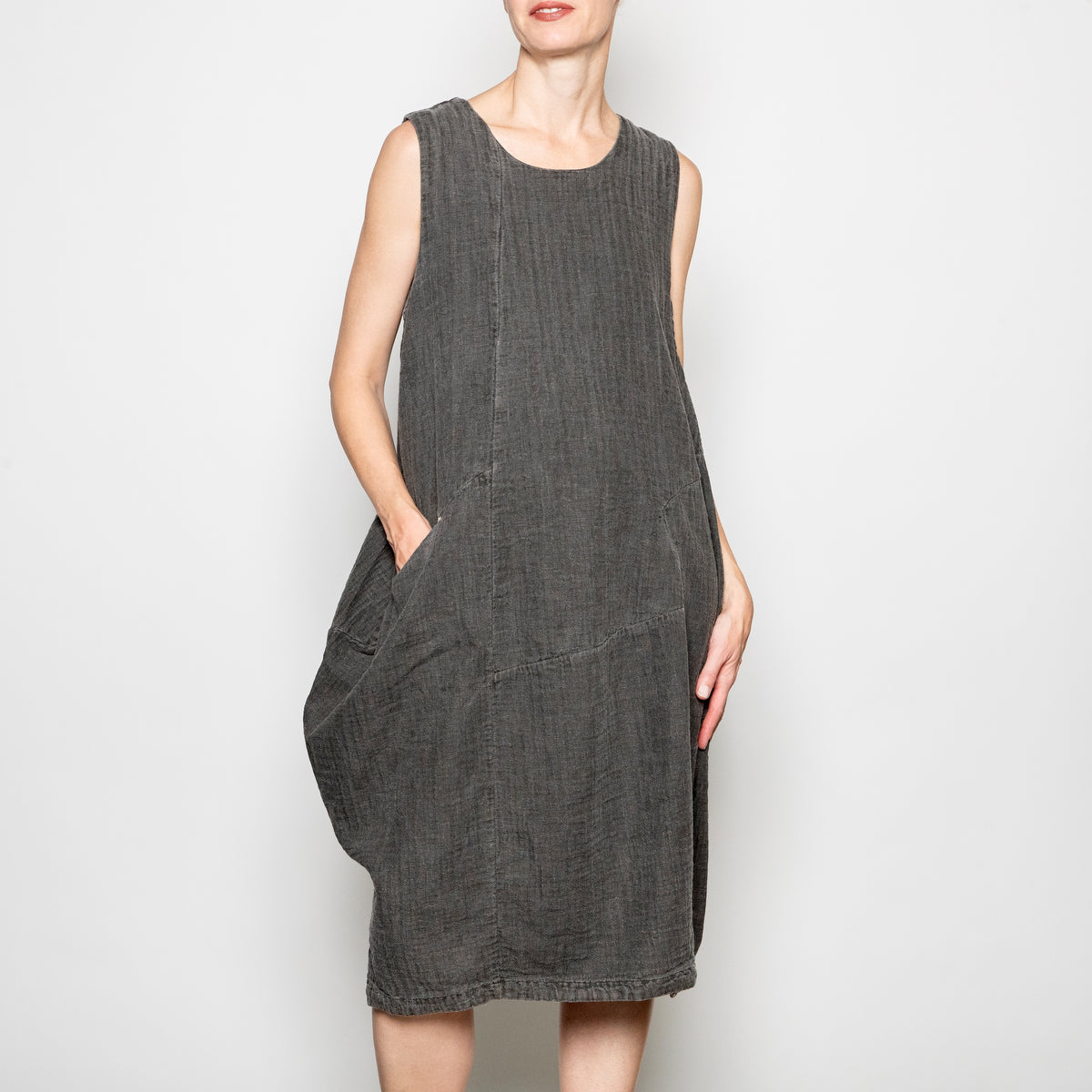 Peacock Ways Lacey Dress in Grey