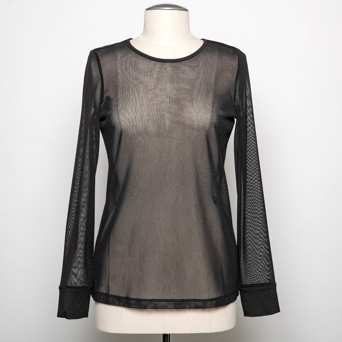 Ever Sassy Mesh Top in Black