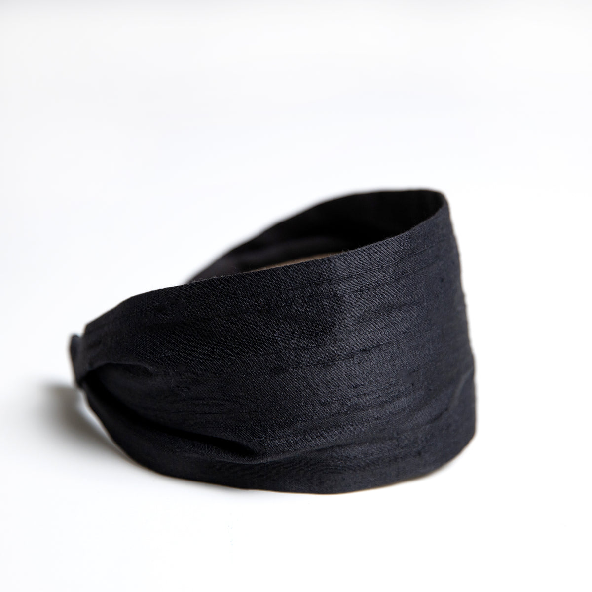 Cookie and the Dude Classic Headband in Onyx Silk Dupioni