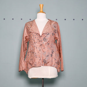 Harubella 3 Button Jacket in Dusty Pink