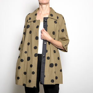 Luii-Tan Polka Dot Coat
