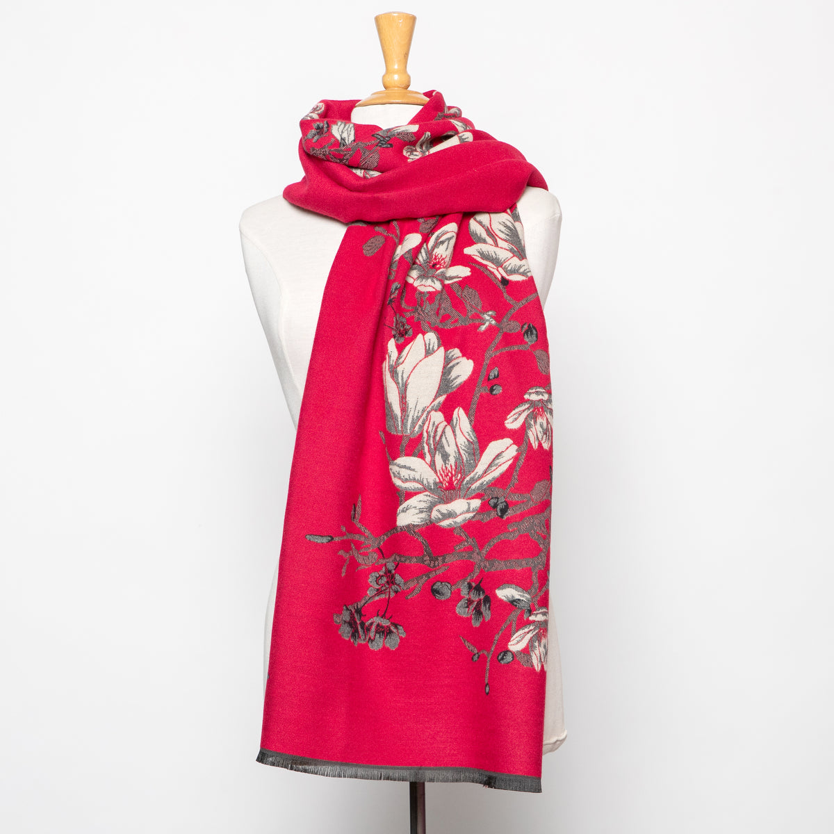 In Things Floral Scarf in Red