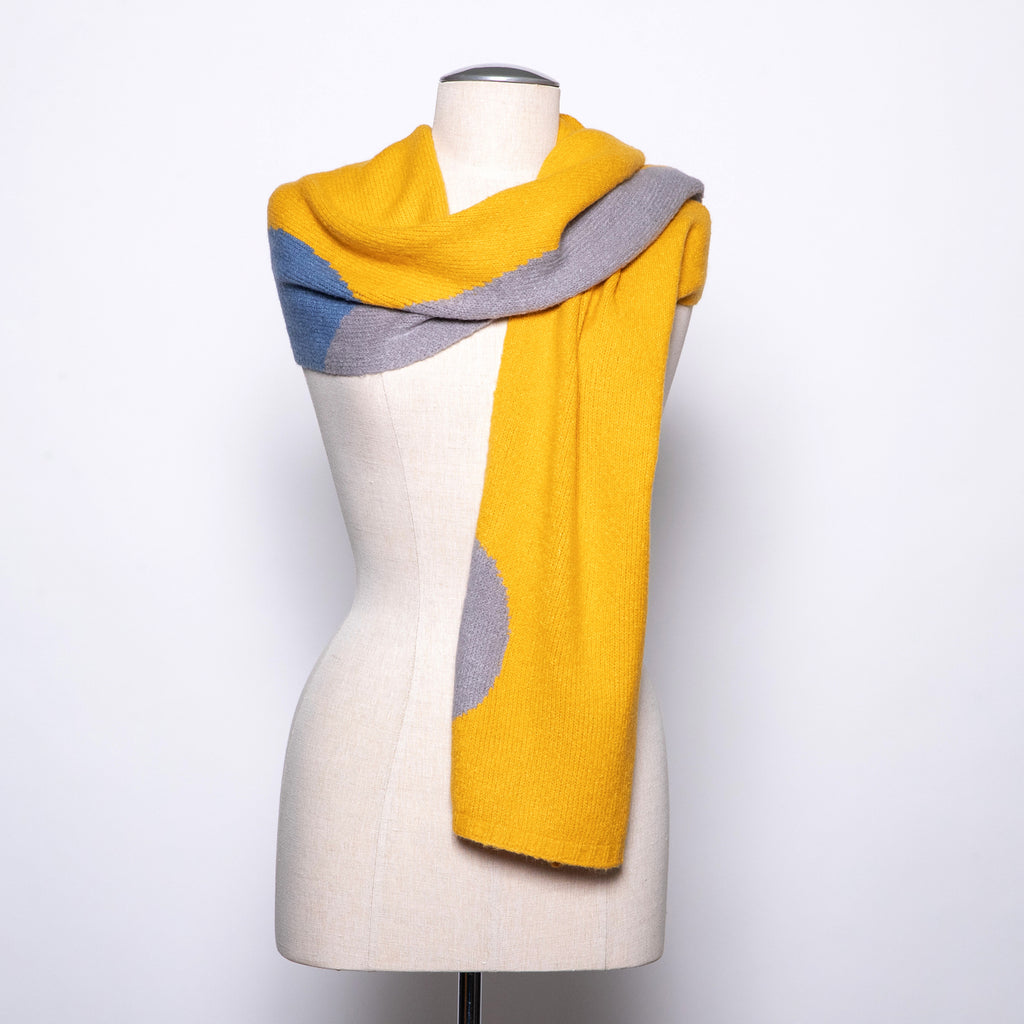 Pretty Persuasions Abstract Circle Scarf in Yellow