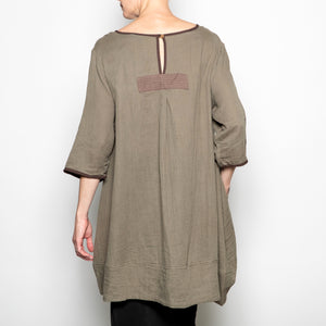Peacock Ways Anna Blouse in Olive