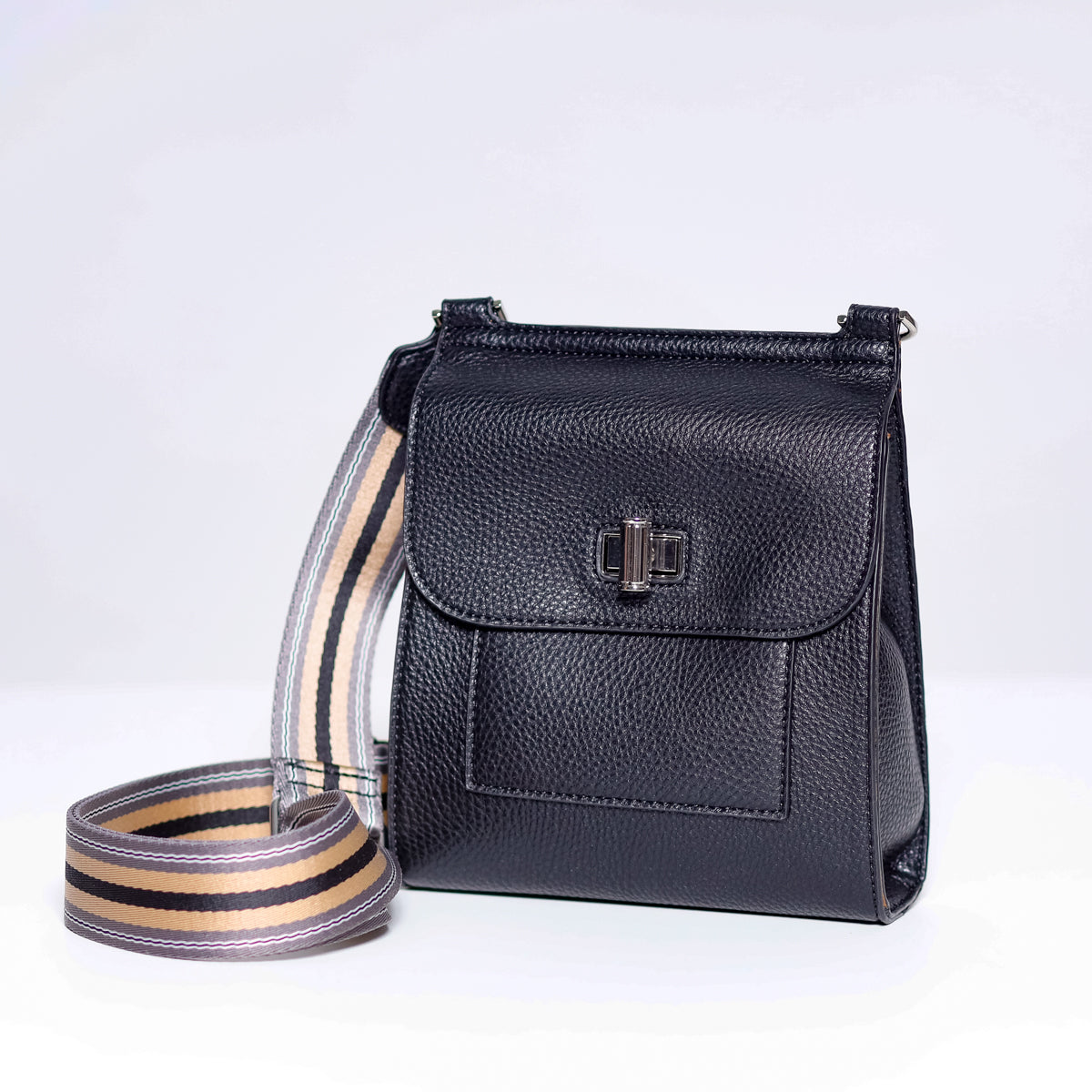 Sondra Roberts Cross Body in Pebble Black