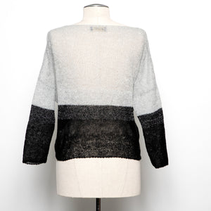 Aggel Two-toned Fine Knit Sweater