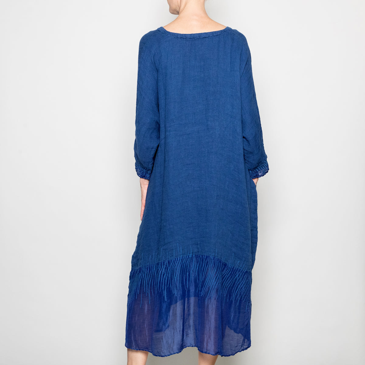 Peacock Ways Annabelle Dress in Navy