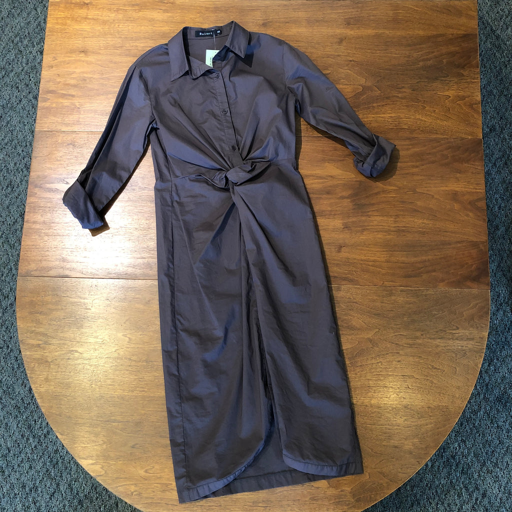Baloot Ruched Shirt Dress