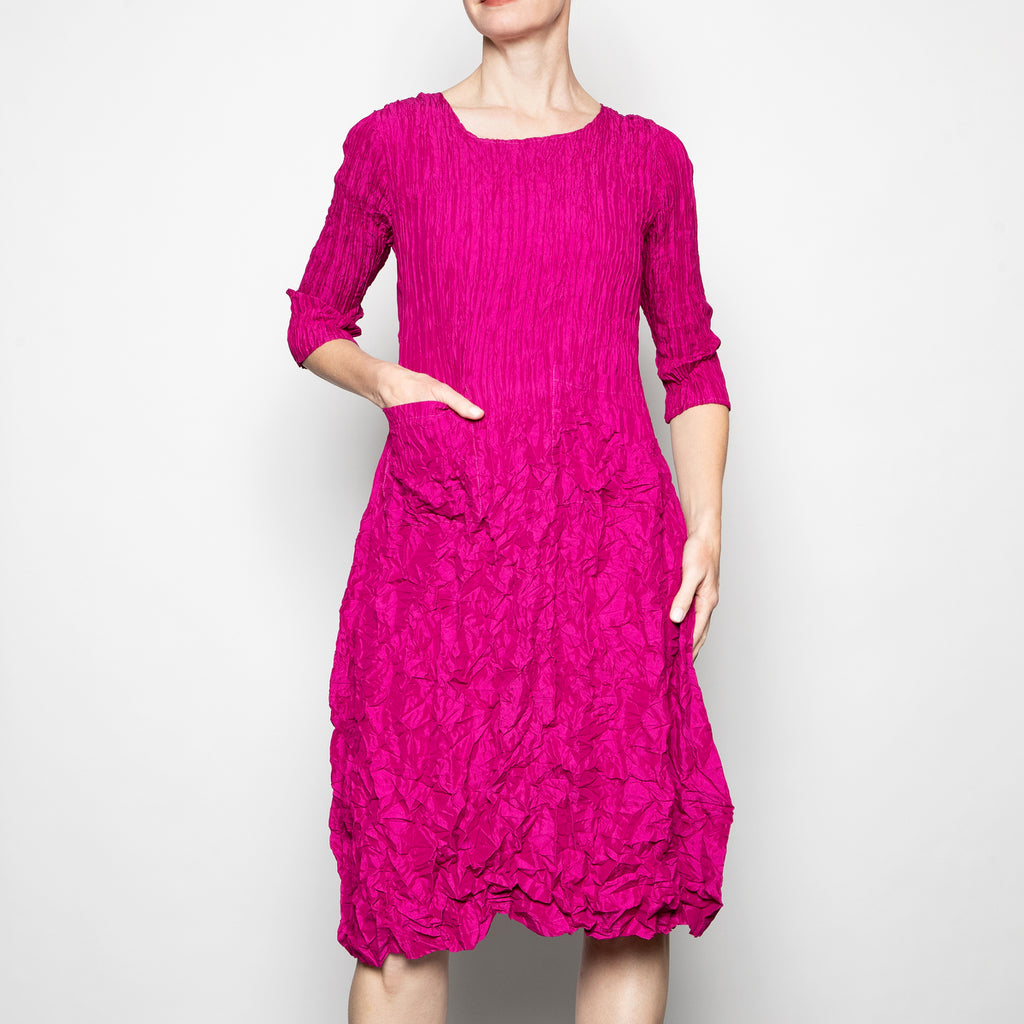 Alquema 3/4 Sleeve Smash Dress in Magenta