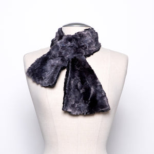 Pandemonium Pull Through Scarf in Black and Skye