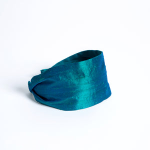 Cookie and the Dude Classic Headband in Anemone Dupioni Silk
